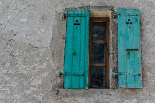 Blue Shutters in Yvoire